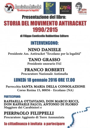 Storia del movimento antiracket 1990/2015